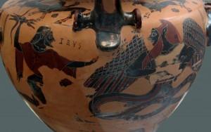 Zeus Holding 3 Pronged Vajra Weapon