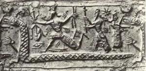 Marduk Hold Vajra Weapon