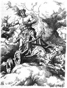 Thor weilds Vajra / Hammer Weapon